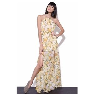 Lovers + Friends Yellow Sunkissed Floral Maxi